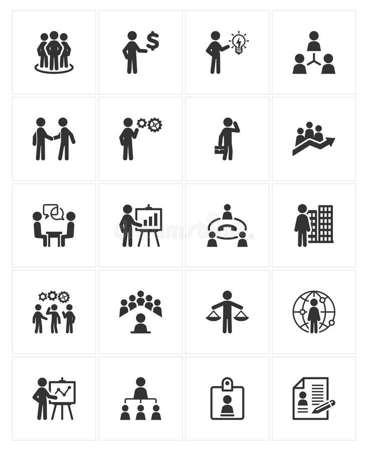 Iconos de la gestión de negocio stock de ilustración