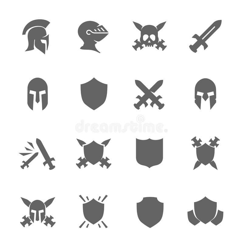 Iconos de la guerra libre illustration
