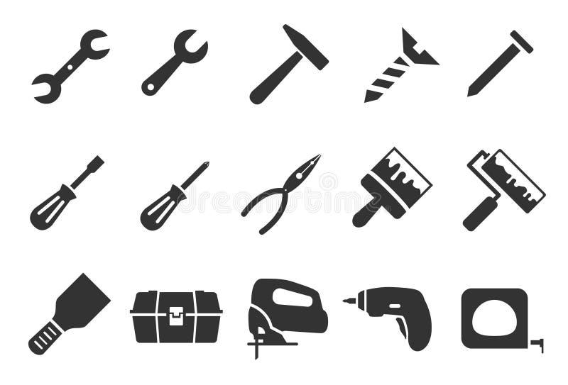 Iconos de la herramienta ilustración del vector