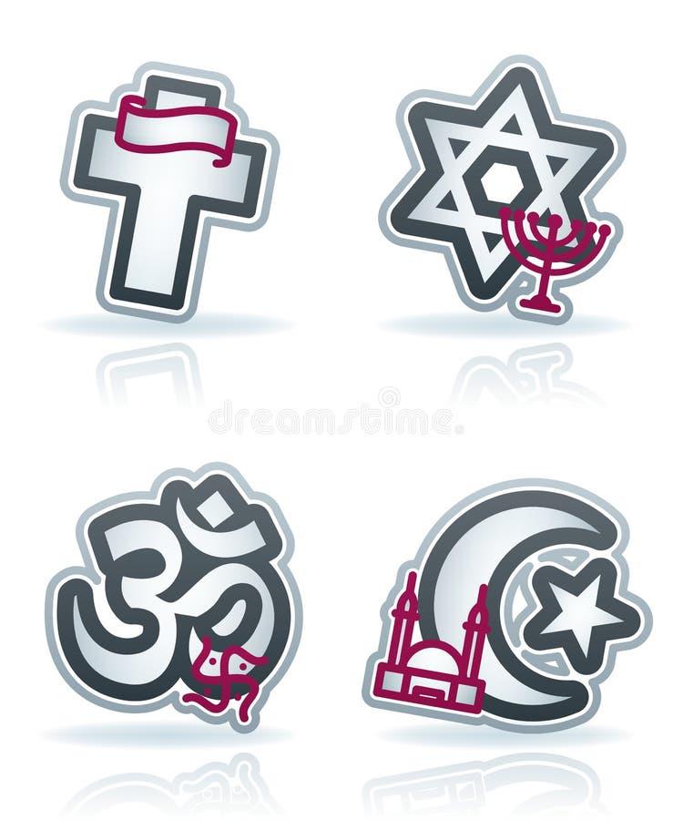 Iconos de la industria: Religión ilustración del vector