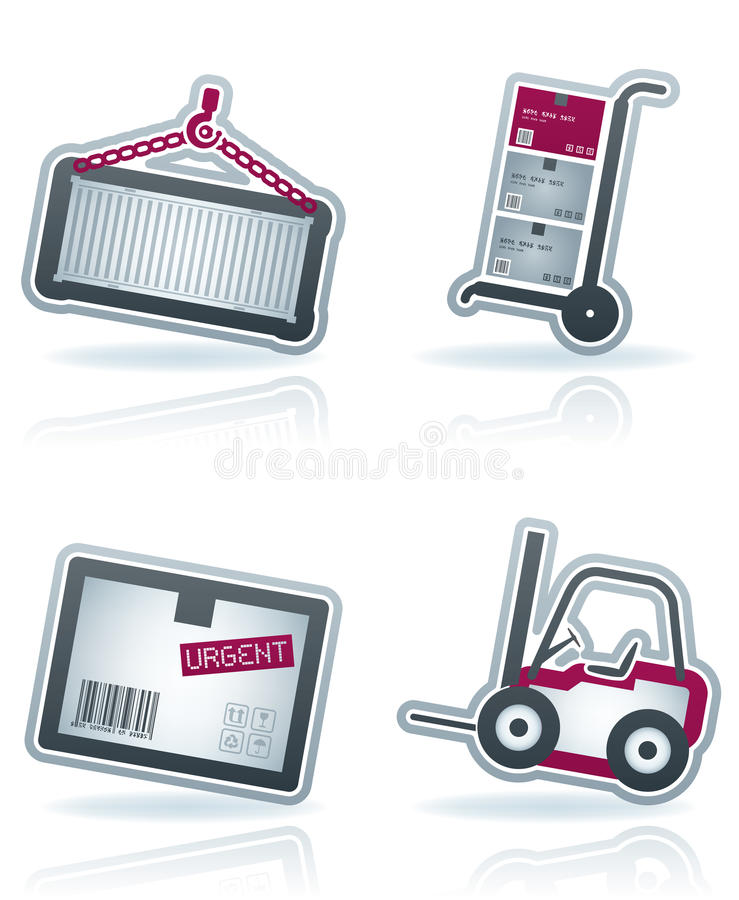 Iconos de la industria: Transportes libre illustration