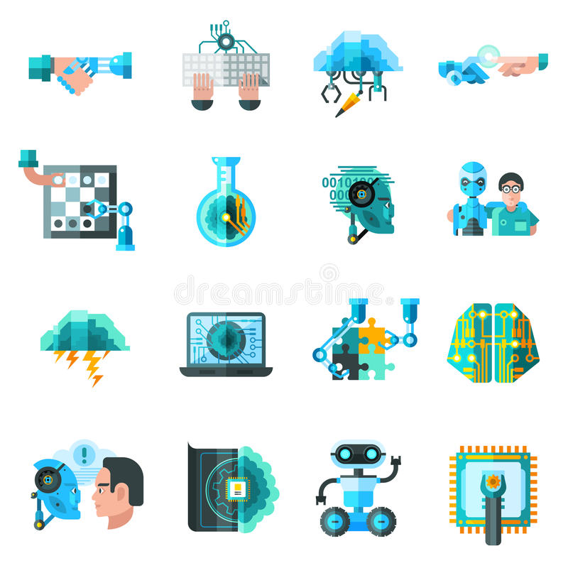 Iconos de la inteligencia artificial fijados