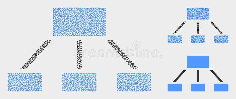 Iconos de la jerarquía del vector de Pixelated ilustración del vector
