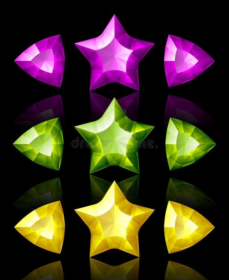 Iconos de la joyería de estrellas y de flechas libre illustration