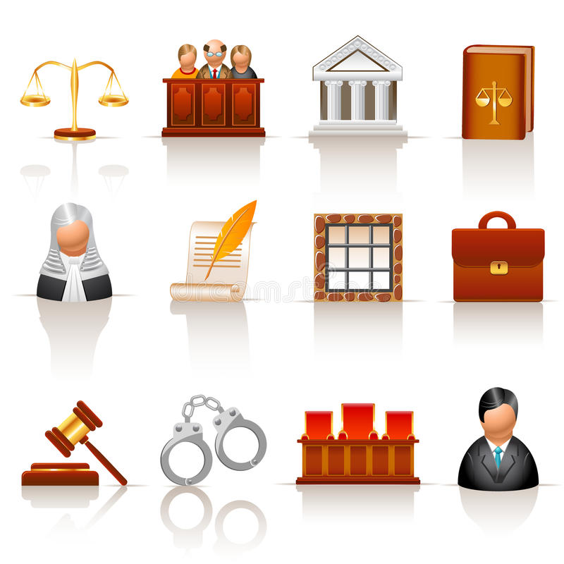 Iconos de la ley libre illustration