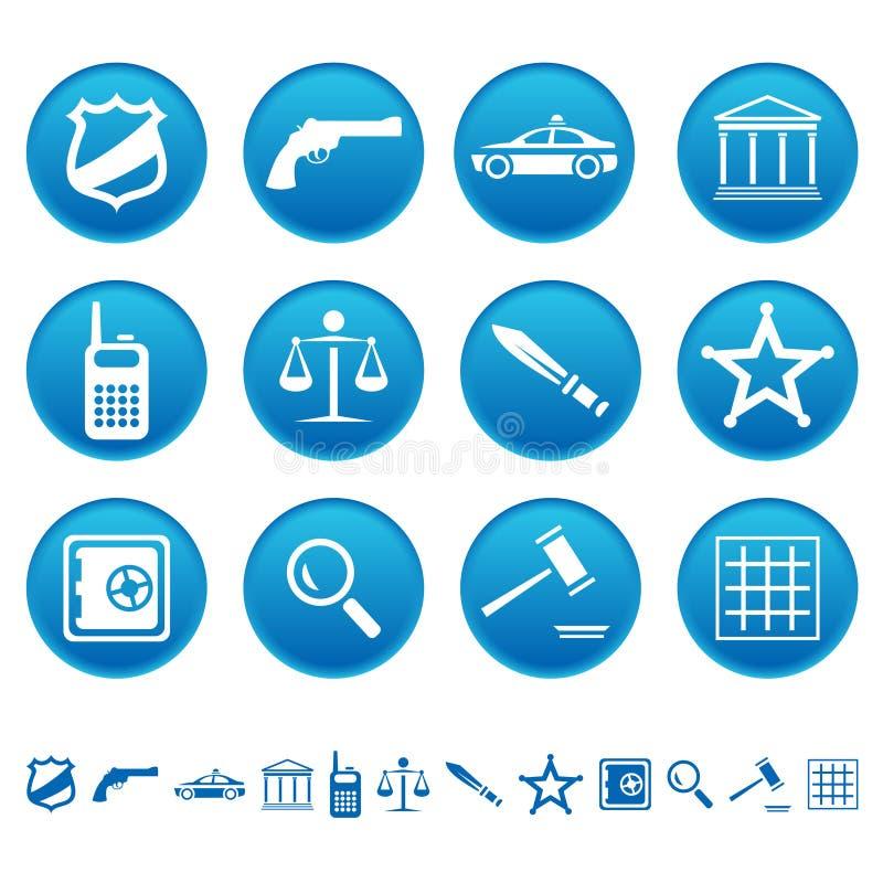 Iconos de la ley y de la orden libre illustration