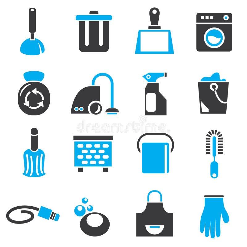 Iconos de la limpieza y de la higiene libre illustration