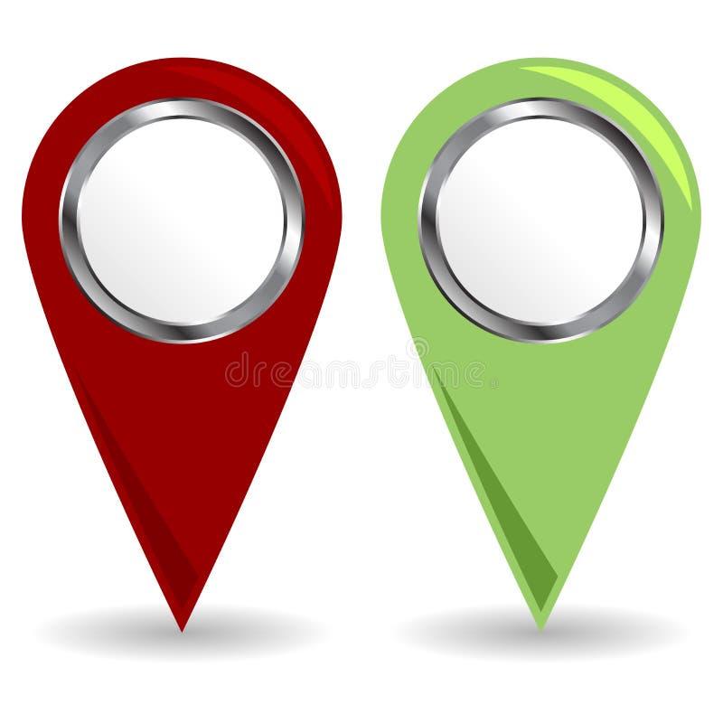 Iconos de la localización libre illustration