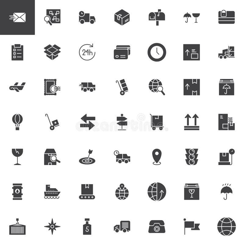 Iconos de la logística y del vector de la entrega fijados libre illustration