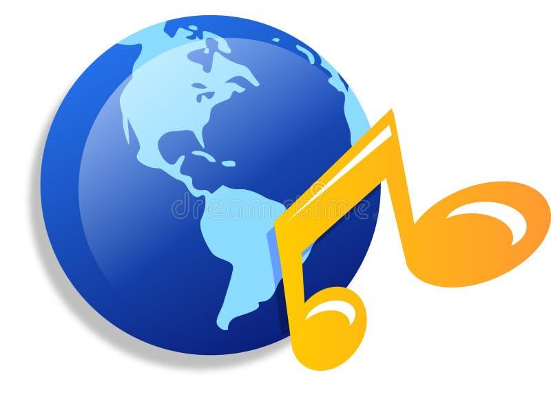 Iconos de la música del mundo ilustración del vector