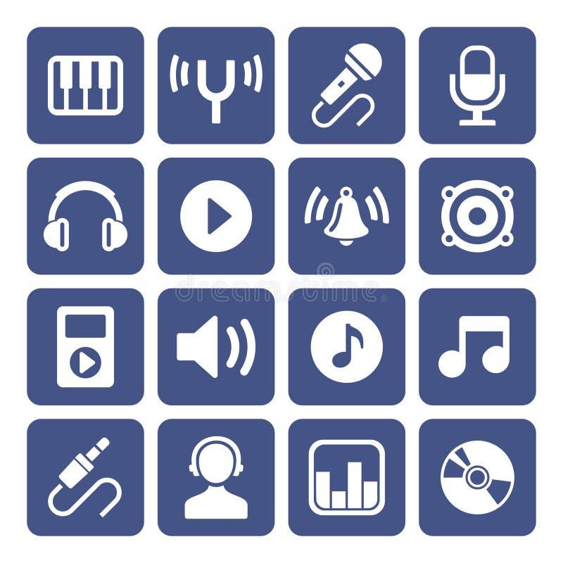 Iconos de la música fijados libre illustration
