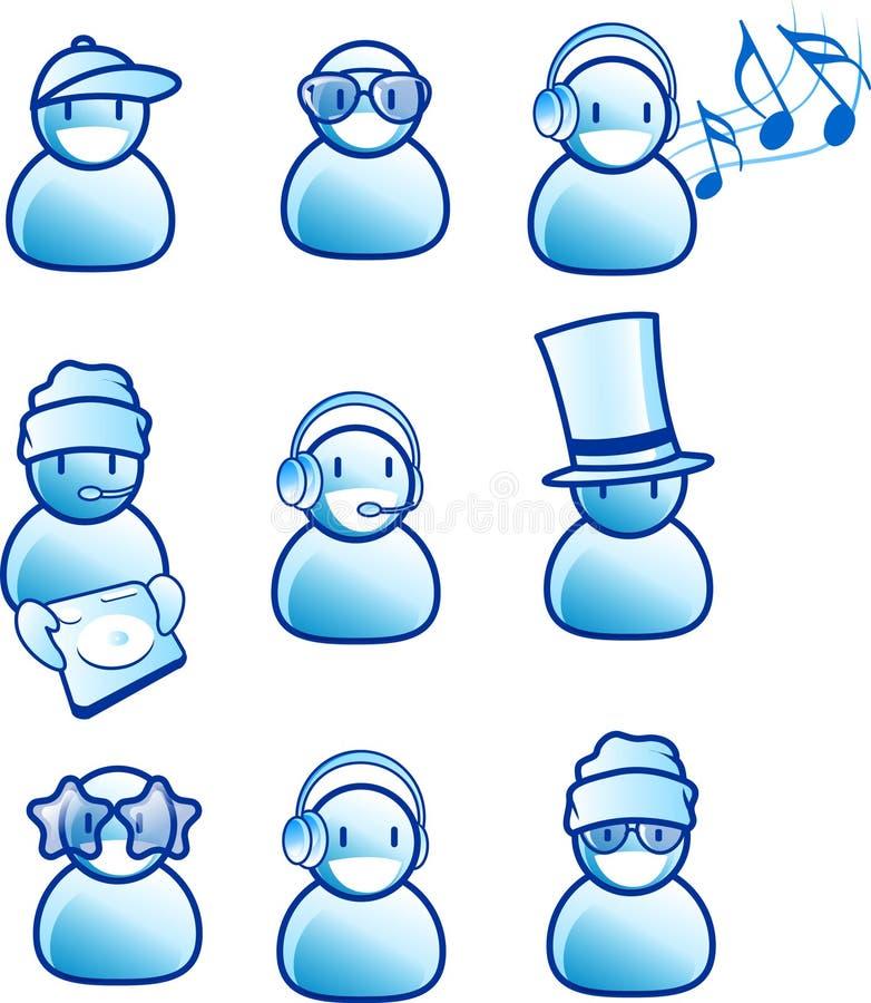 Iconos de la música y de la gente libre illustration