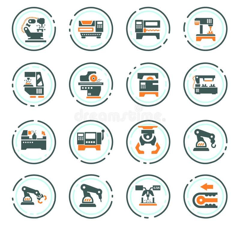 Iconos de la m?quina-herramienta fijados libre illustration