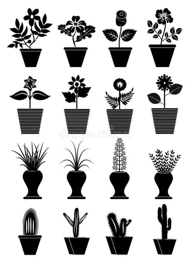 Iconos de la maceta libre illustration