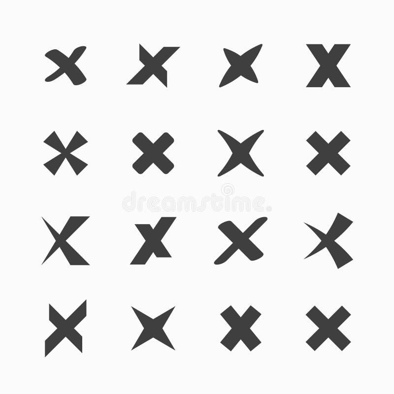 Iconos de la marca de verificación ilustración del vector