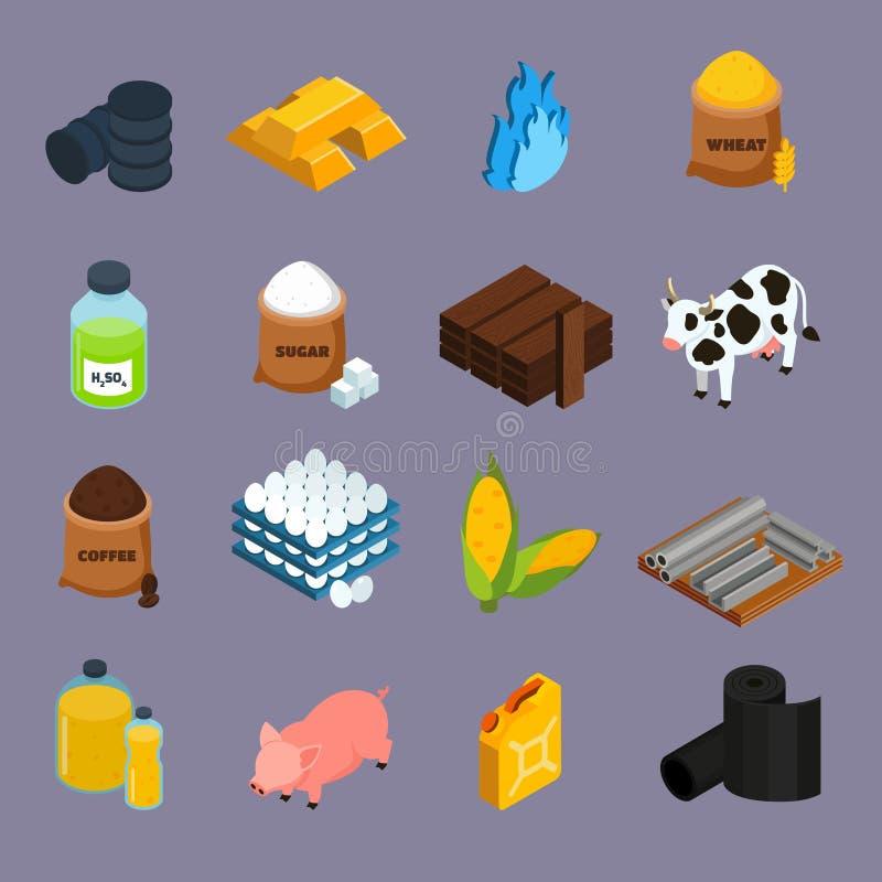 Iconos de la materia fijados libre illustration