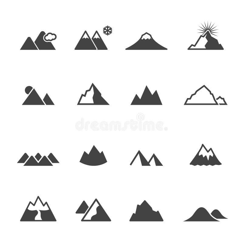 Iconos de la montaña libre illustration