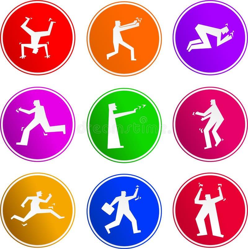 Iconos de la muestra de la gente stock de ilustración