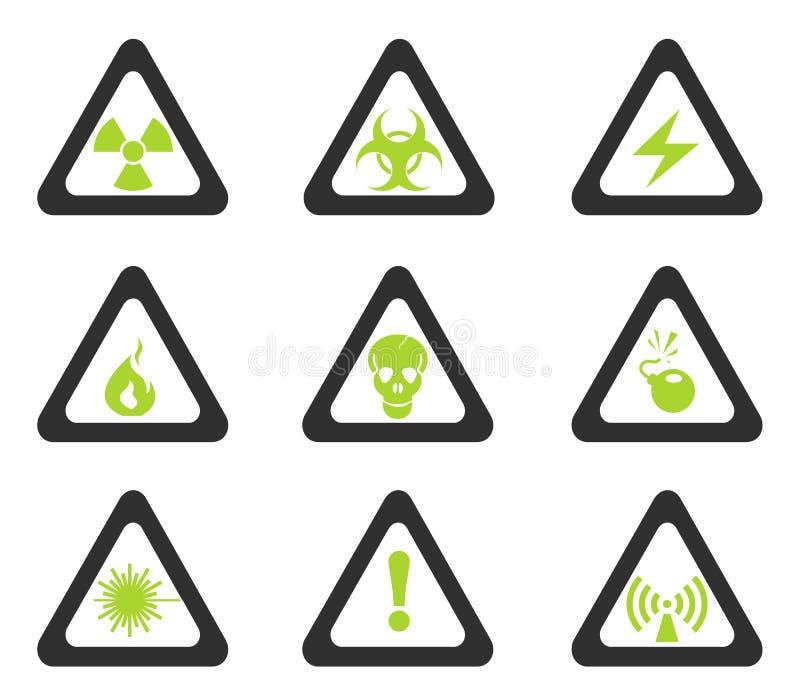 Iconos de la muestra de peligro libre illustration