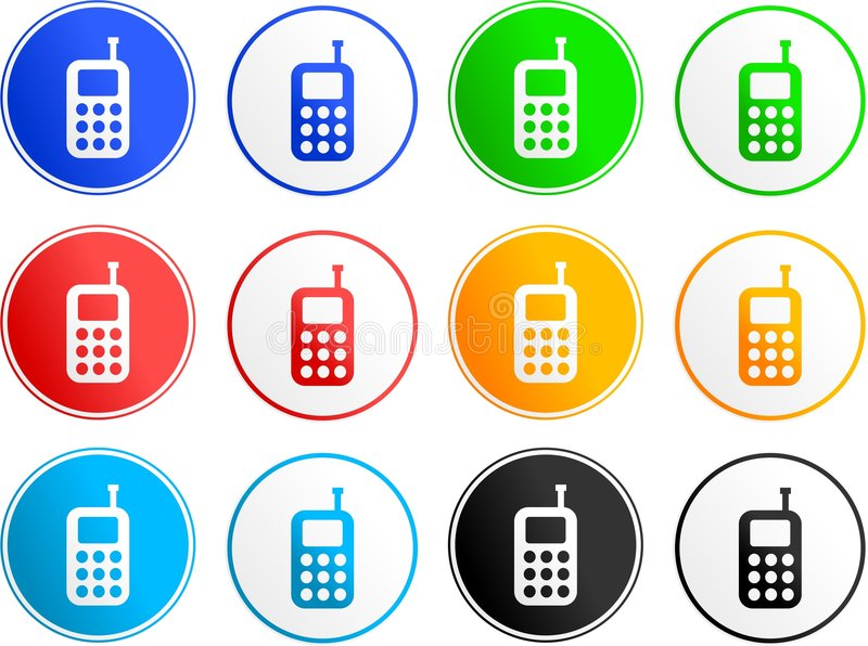 Iconos de la muestra del teléfono libre illustration
