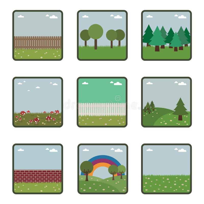 Iconos de la naturaleza libre illustration