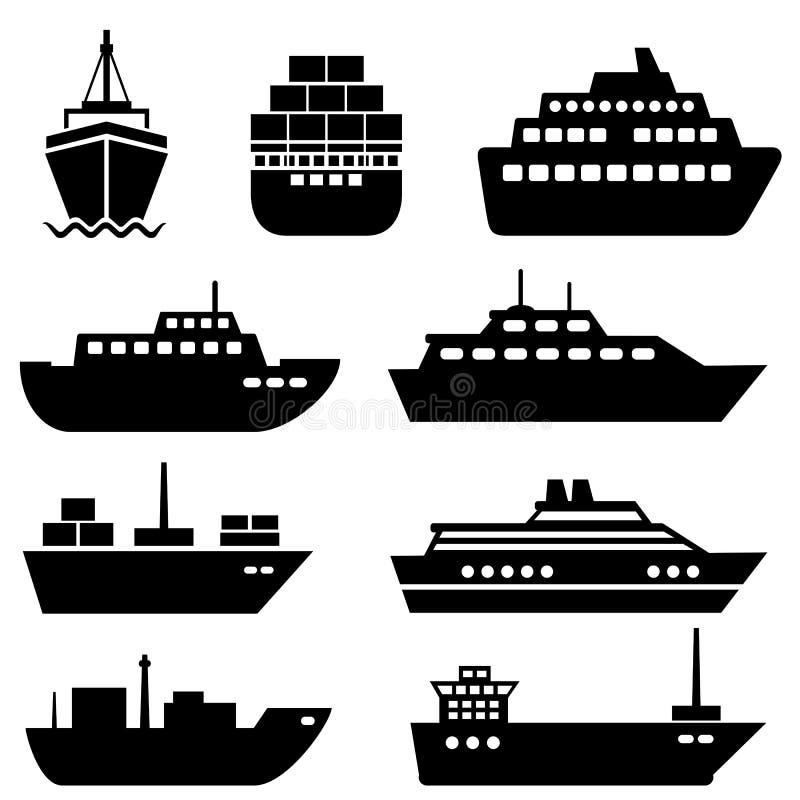 Iconos de la nave y del barco libre illustration