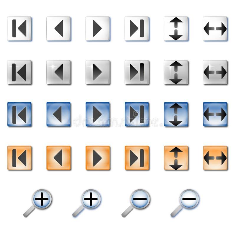 Iconos de la navegación fotografía de archivo