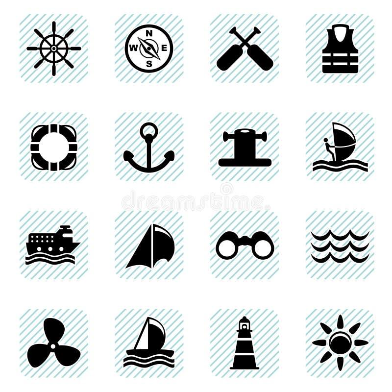 Iconos de la navegación fijados ilustración del vector