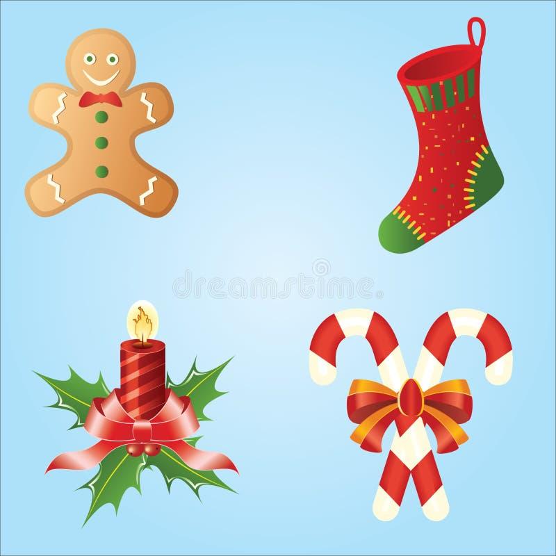 Iconos de la Navidad ilustración del vector