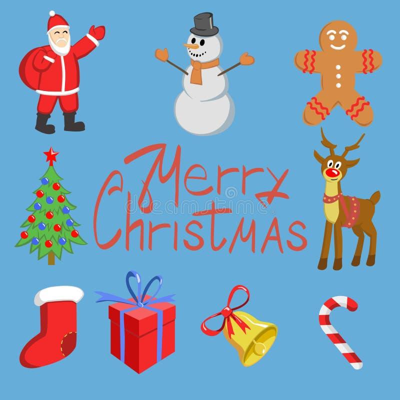 Iconos de la Navidad fijados foto de archivo