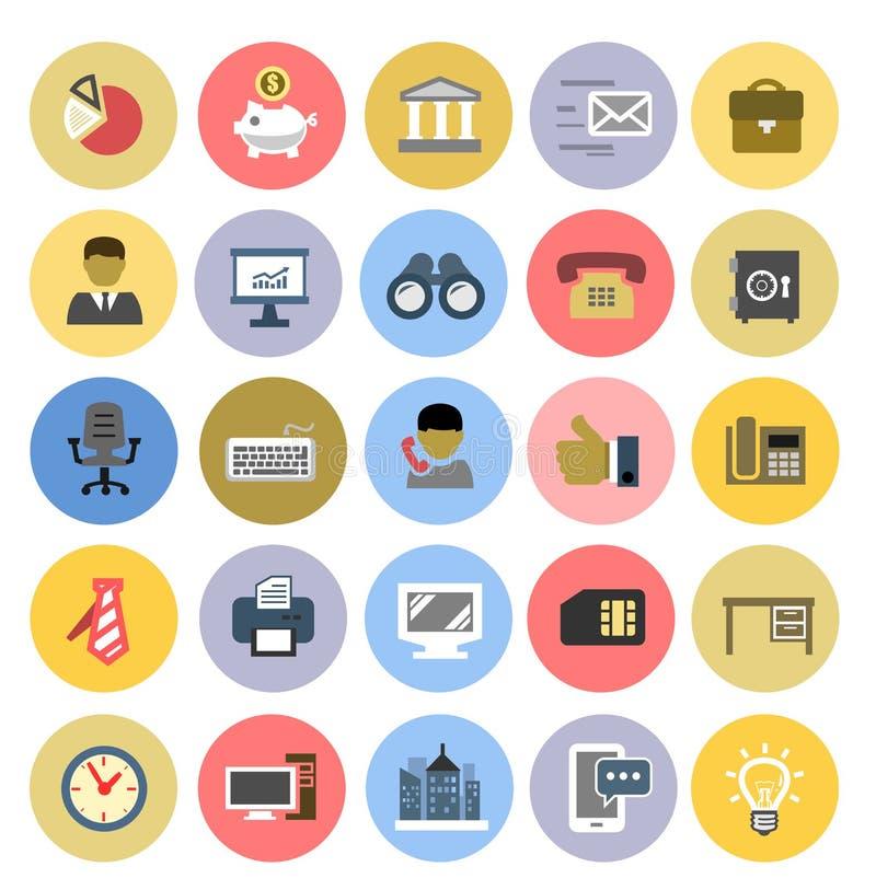 Iconos de la oficina fijados libre illustration