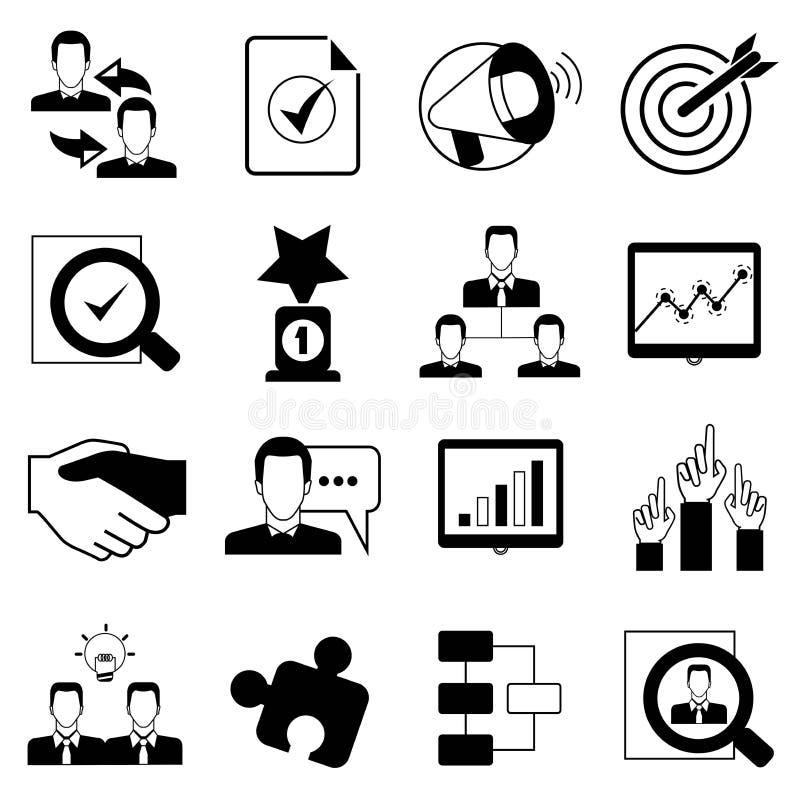 Iconos de la oficina y de la organización ilustración del vector