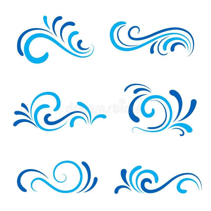 Iconos de la onda libre illustration