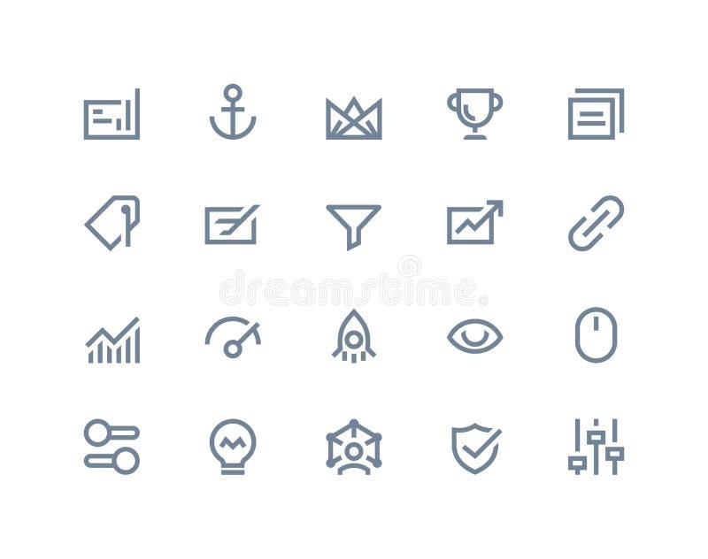 Iconos de la optimización de la búsqueda Línea serie