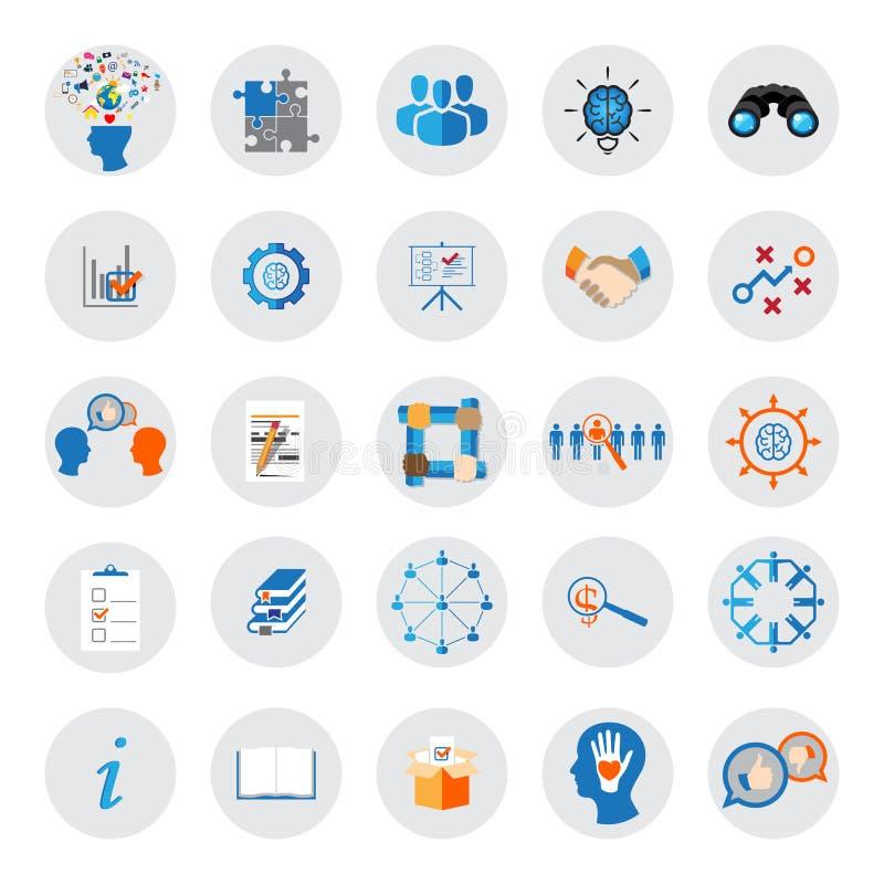 Iconos de la organización stock de ilustración
