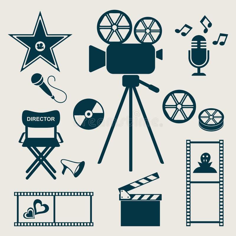 Iconos de la película stock de ilustración