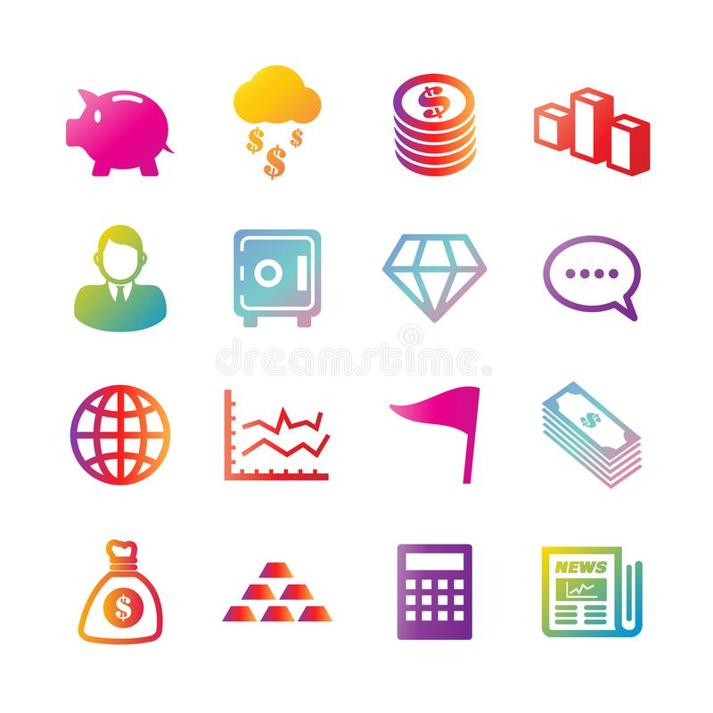 Iconos de la pendiente del vector del negocio y de las finanzas libre illustration