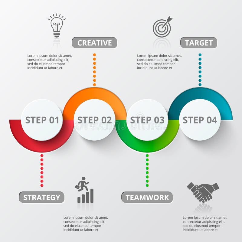 Iconos de la plantilla y del márketing del diseño de Infographic libre illustration