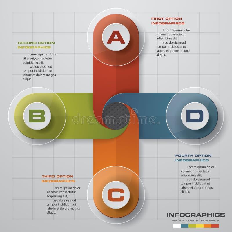 Iconos de la plantilla y del márketing del diseño de Infographic, concepto del negocio con la opción 4 libre illustration