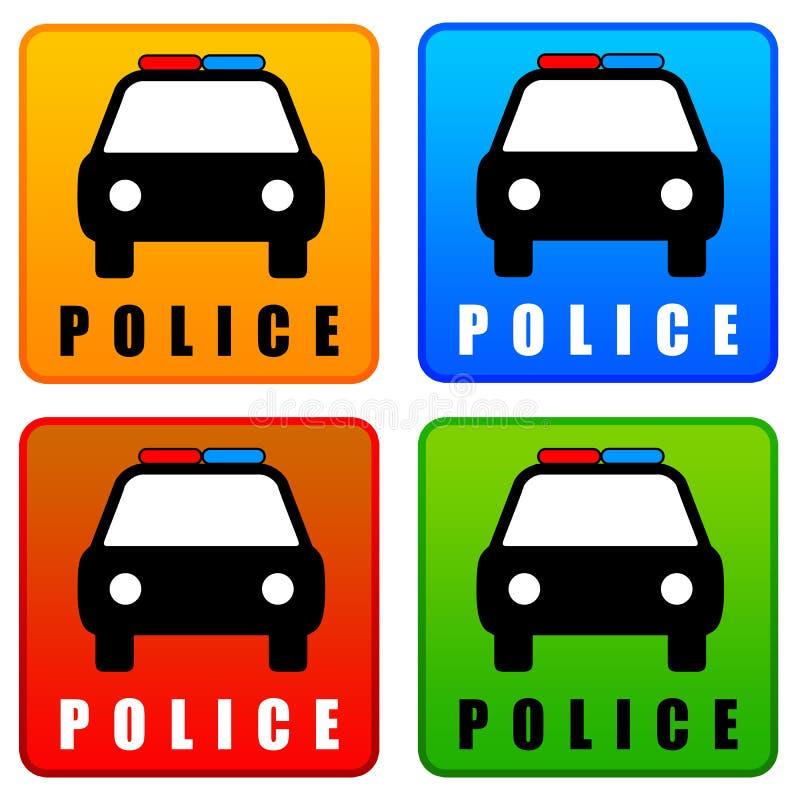 Iconos de la policía ilustración del vector