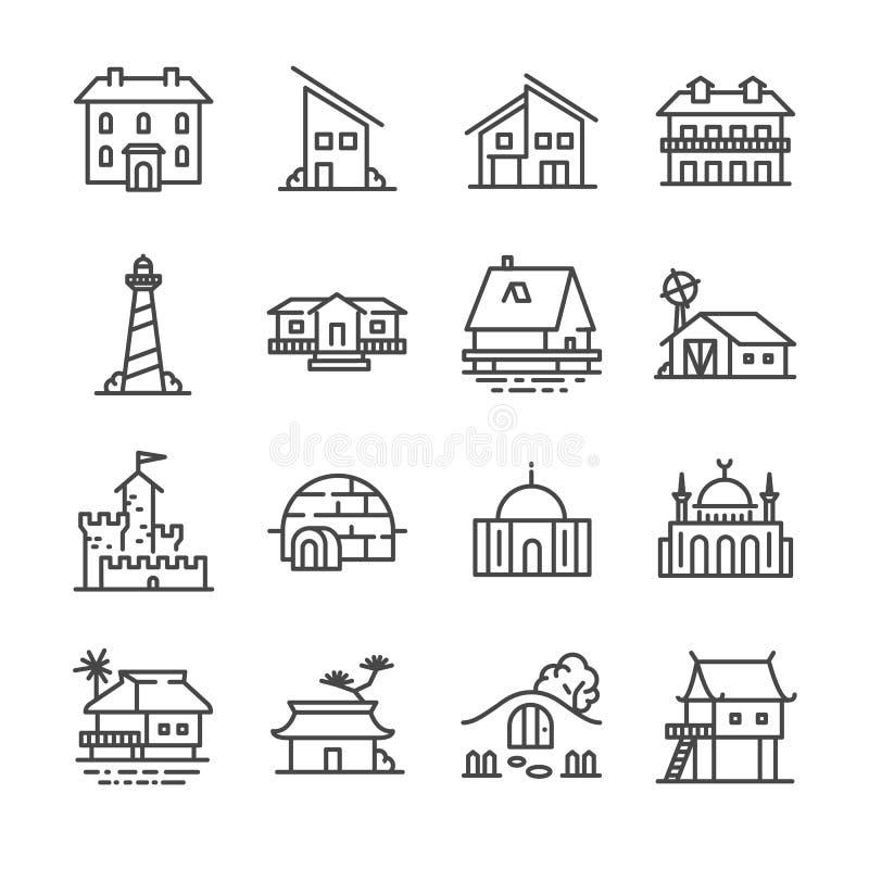 Iconos de la propiedad fijados libre illustration