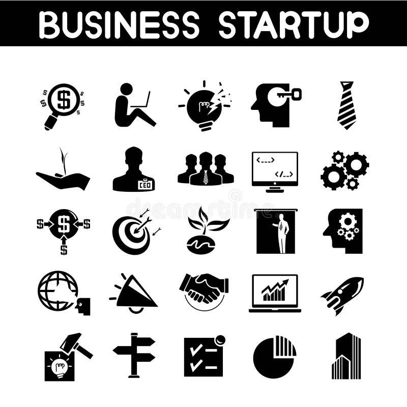 Iconos de la puesta en marcha del negocio ilustración del vector