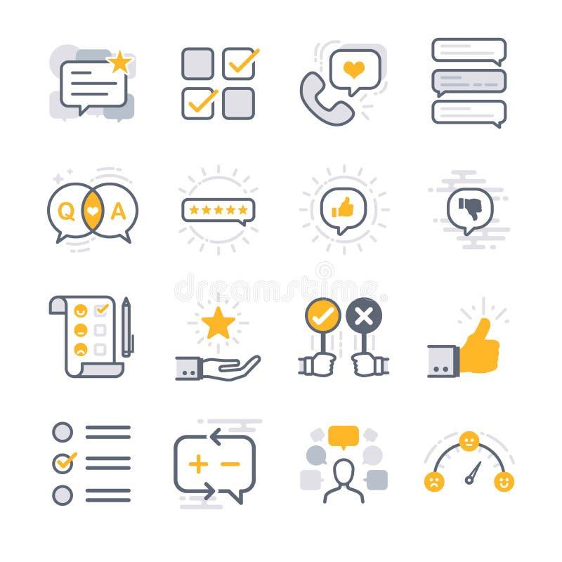 Iconos de la reacción del negocio libre illustration