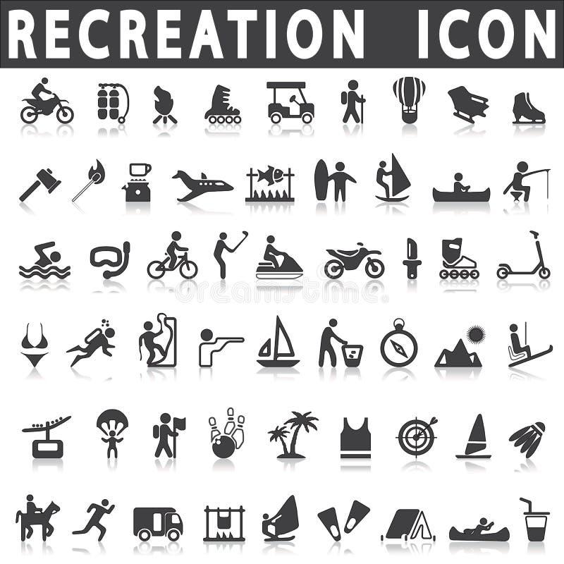 Iconos de la reconstrucción stock de ilustración