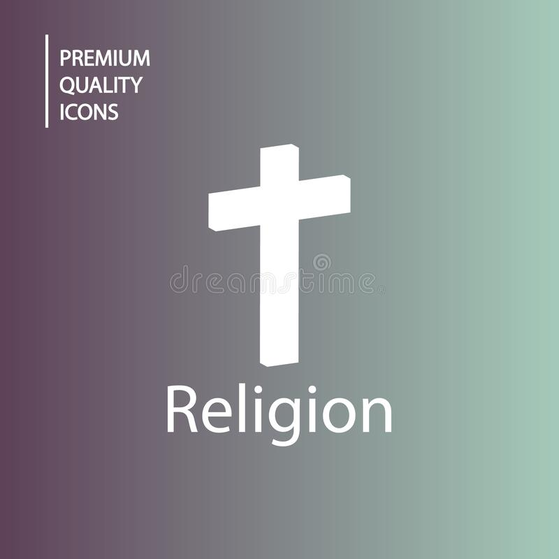 iconos de la religión del fondo stock de ilustración