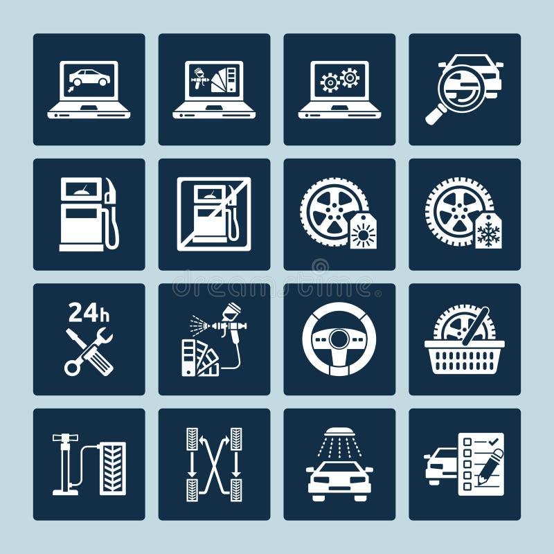 Iconos de la reparación auto libre illustration