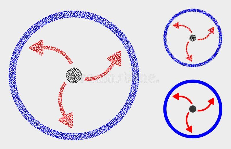 Iconos de la rotación de la turbina del vector del pixel libre illustration
