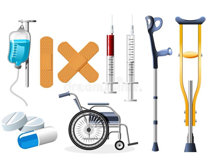 Iconos de la salud libre illustration