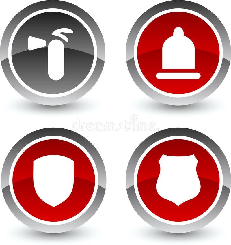 Iconos de la seguridad. libre illustration