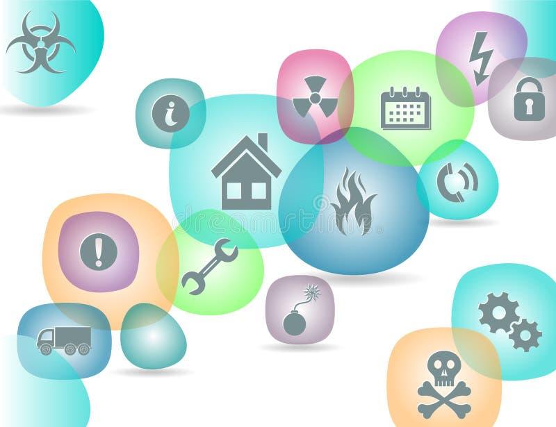 Iconos de la seguridad libre illustration